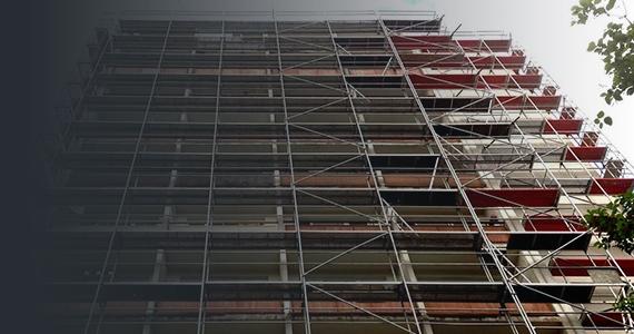 Facade scaffoldage