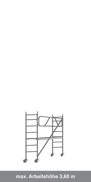 Hliníkové pojazdné lešenie Model B